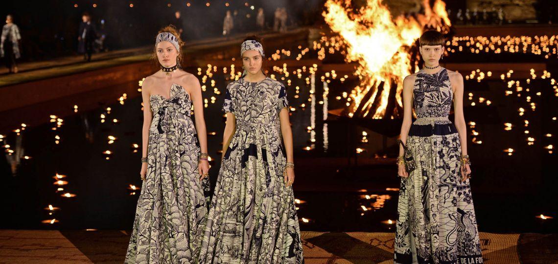 Fuegos y estampados: así fue el deslumbrante desfile de Dior en Marrakech