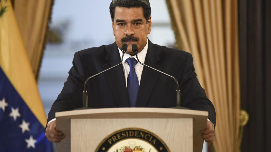 President Nicolas Maduro Holds Press Conference As Bridge Blockade Stifles Humanitarian Aid