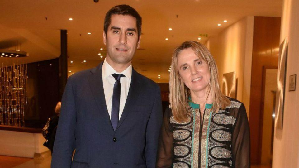El diputado Manuel Mosca y su esposa, la senadora Gladys González.