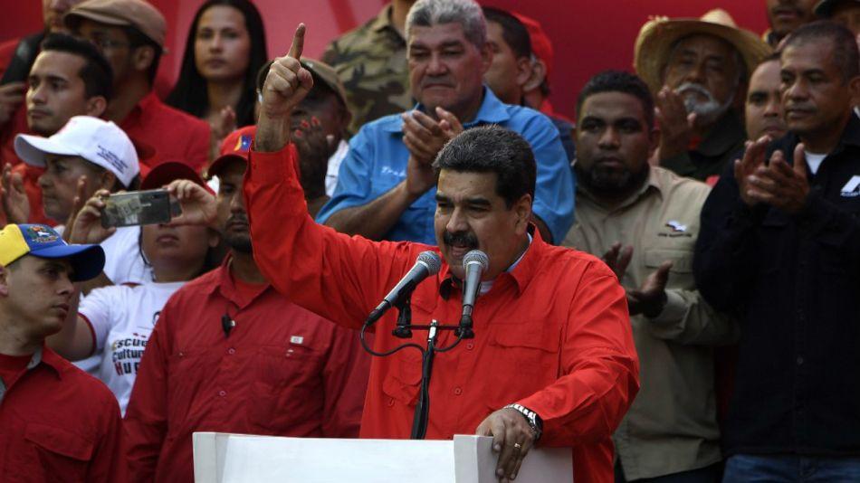 Maduro, en su discurso en Caracas de este 1° de Mayo.