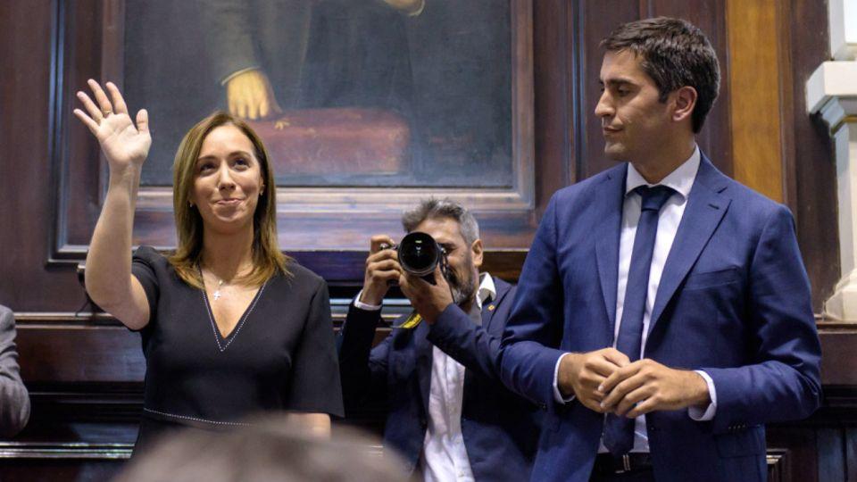 Vidal y Mosca, en la Legislatura bonaerense.