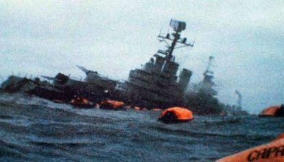 """Este 2 de mayo es el 37º aniversario del hundimiento del Crucero ARA """"General Belgrano""""."""