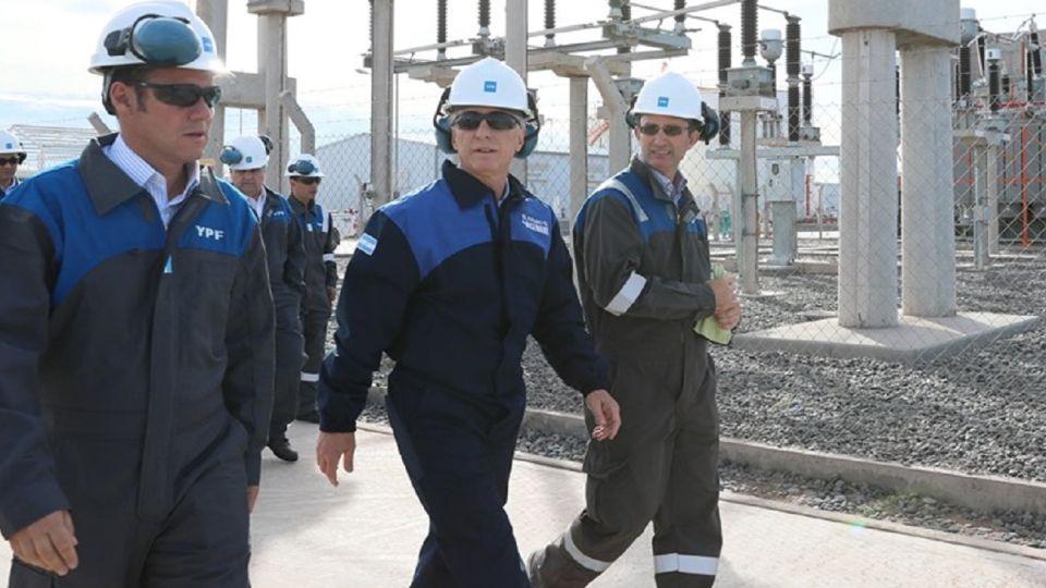 El presidente Mauricio Macri inauguró un nuevo oleoducto en Añelo, Neuquén.