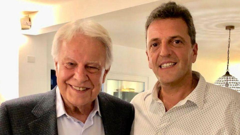 Sergio Massa este sábado junto al expresidente español, Felipe González