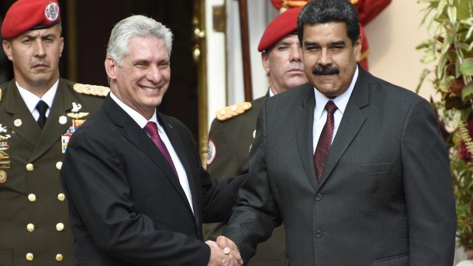 Cuba's New President Miguel Diaz-Canel Visits Venezuela