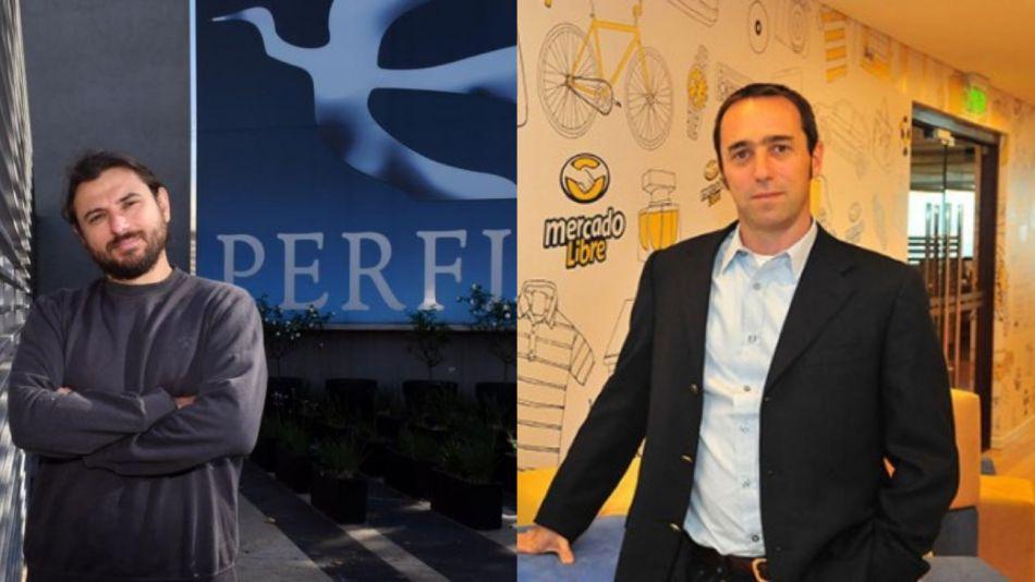 El dirigente social Juan Grabois y el CEO y fundador de Mercado Libre, Marcos Galperín.