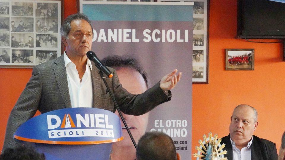 Daniel Scioli, nuevamente candidato.