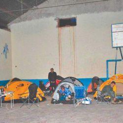 Campamento en Cusi Cusi.