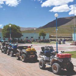 Plaza de Coranzulí, donde el grupo aprovechó para almorzar.
