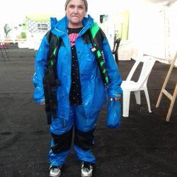 Natalia Carina Cardozo, que actualmente reside en Italia, ganó el torneo al sacar el surubí más grande: 107 centímetros.