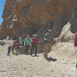 El grupo en cerro Morrillo, a 3.000 metros de altura, en el Cordón de Ansilta.