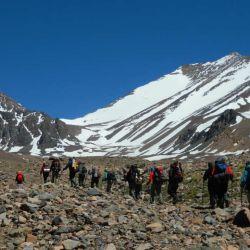 El Cordón de Ansilta presenta fantásticos desafíos de variada dificultad para los trekking de ascenso en montaña.