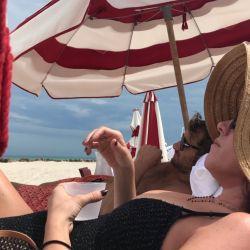 Dolores Barreiro, de vacaciones con sus hermanas.