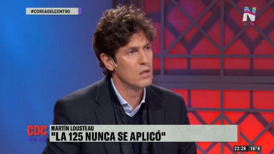 """El economista Martín Lousteau invitado en el programa """"Corea del Centro"""" por Net TV."""