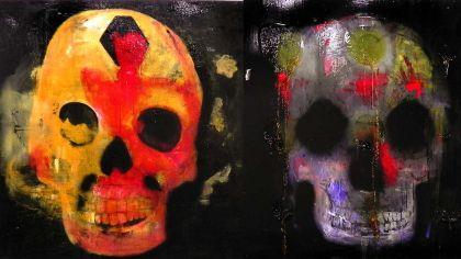 Carne Suave, muestra grupal en el Espacio Imán de la Fundación Cazadores. Serie Los muertos de ahora, de Sergio Bazán