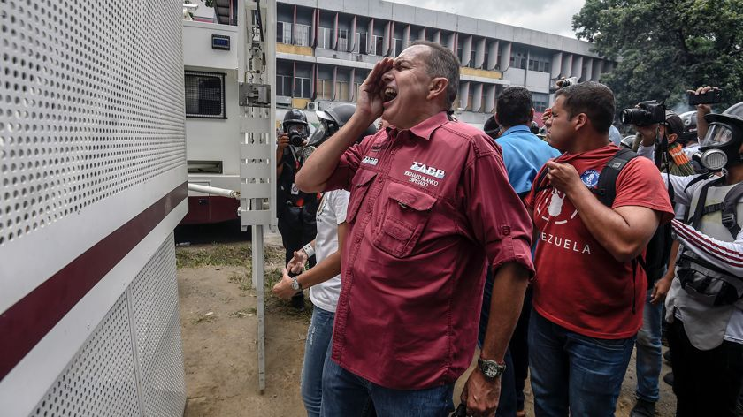 La embajada argentina ampara a un opositor
