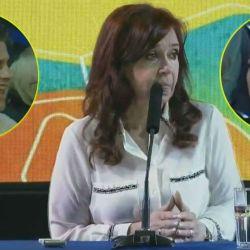 Cristina Kircher en la presentación de Sinceramente.