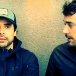 Luciano Castro y Peter Alfonso juntos