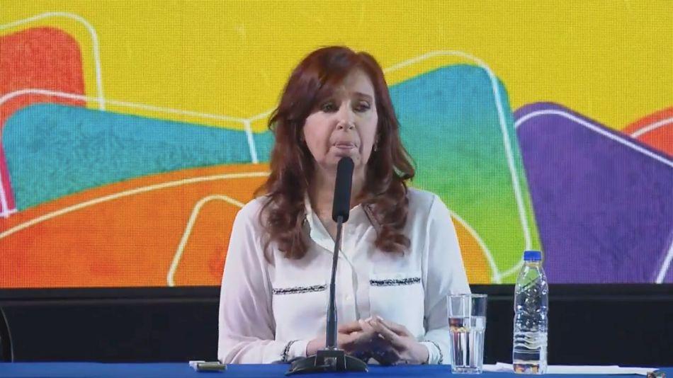 Cristina Kirchner, al presentar el libro.