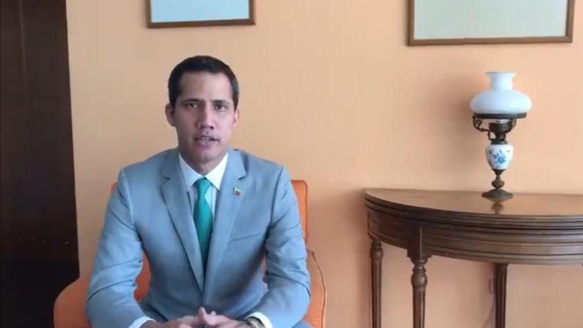En un video, Guaidó le agradeció a Macri por su respaldo