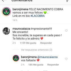 Los comentarios de Jimena Barón