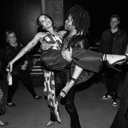 Wanda Nara y Mauro Icardi asistieron a la muestra fotográfica de Lenny Kravitz