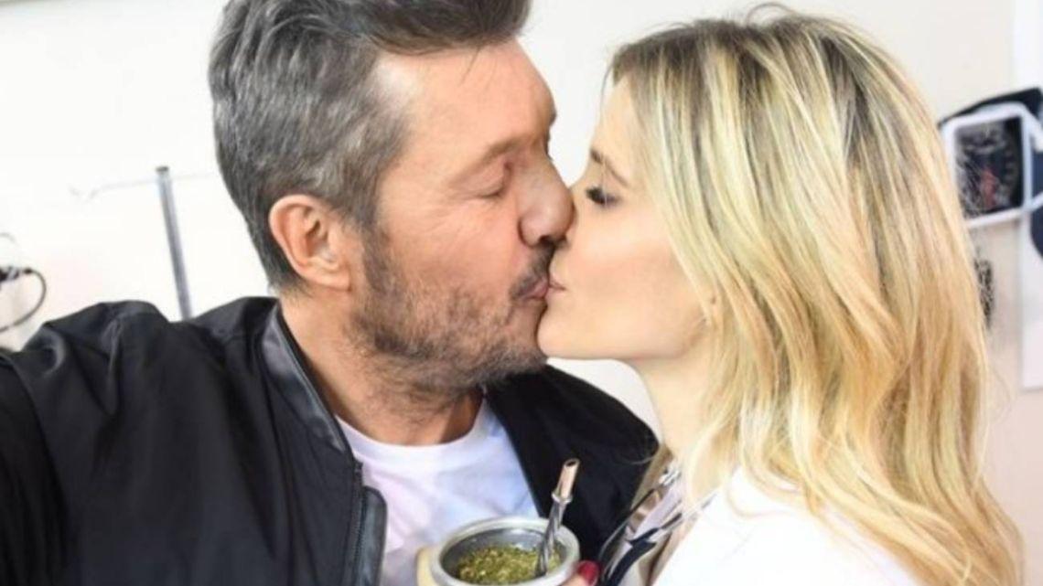 Guillermina Valdés y Marcelo Tinelli, enamorados.