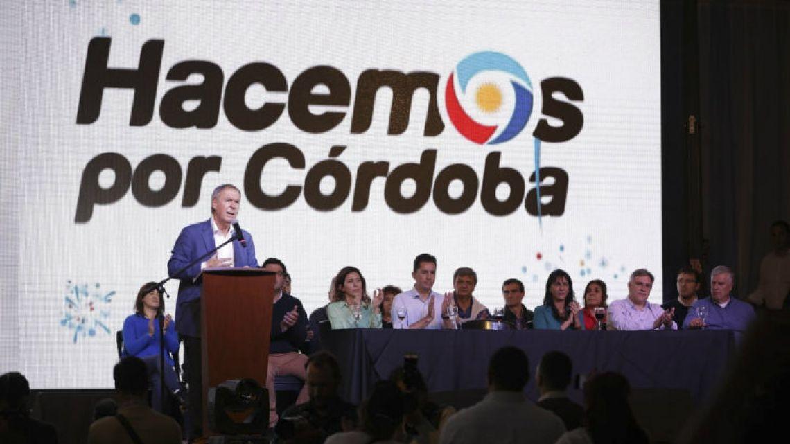 Juan Schiaretti closes his campaign in Rayo Cortado.