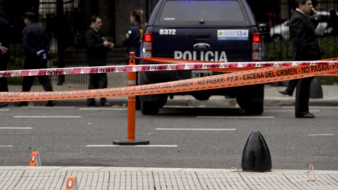 Héctor Olivares was taking a walk in the square outside the National Congress building at around 7am local time with Miguel Marcelo Yadón when they were ambushed by gunmen waiting in a stationery car.