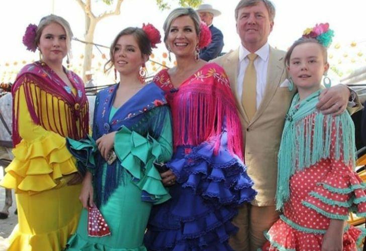 Máxima y su familia en Sevilla 2019