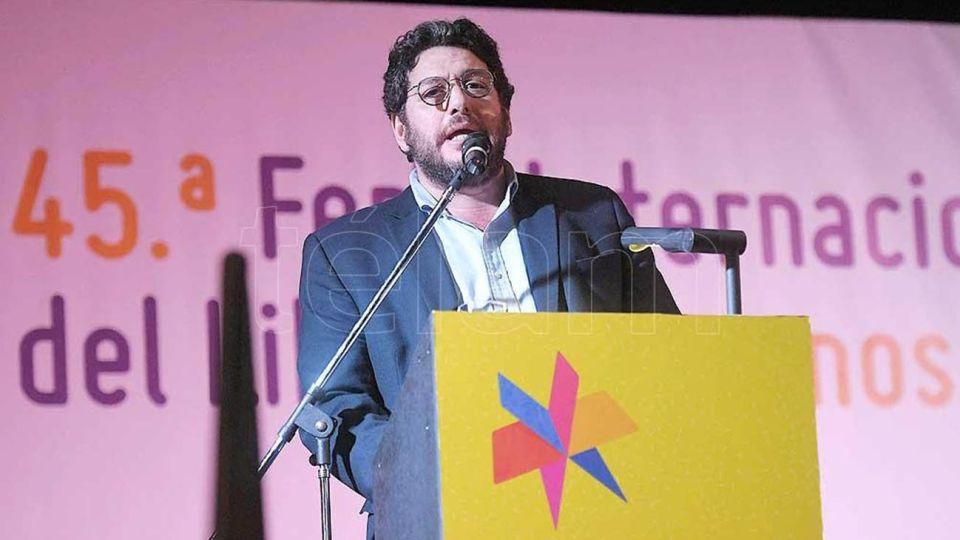 Pablo Avelluto en la inauguracion de la feria del libro