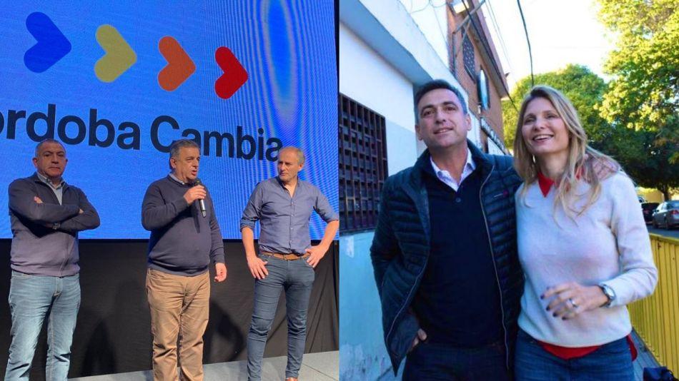 Los candidatos radicales Mario Negri y Ramón Mestre.