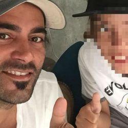 Alejandro Larose y su hijo Valentino