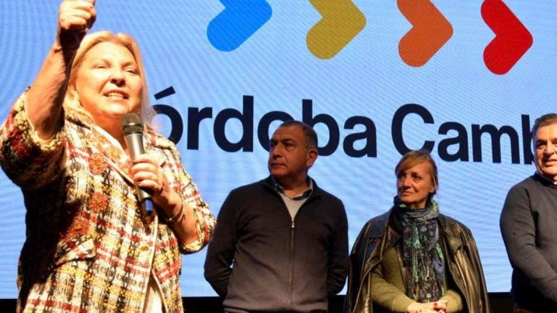Elisa Carrió in Córdoba.