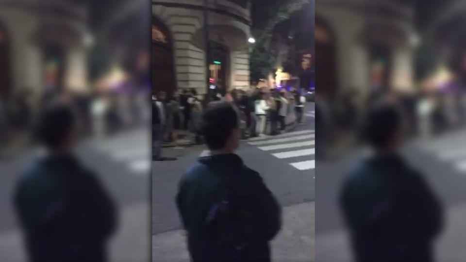 Cacerolazos frente al departamento de Cristina Kirchner en Recoleta.