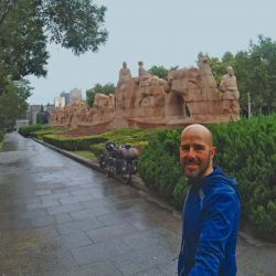Monumento a la Ruta de la Seda en Xian, ícono representativo de tan largo viaje.