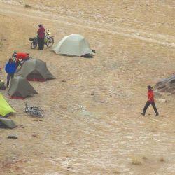 Último campamento en Kirguistán antes de entrar en China.