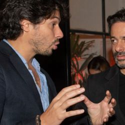 Agustino Fontevecchia de gran charla con Hernán De Laurente