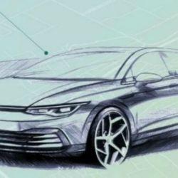Boceto del VW Golf VIII.