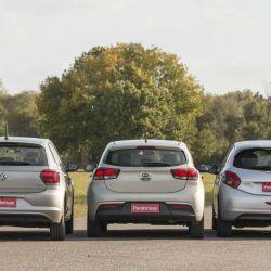 Triple comparativo: Peugeot 208, Kia Rio y Volkswagen Polo