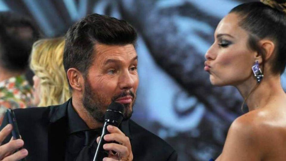 Marcelo Tinelli y Pampita en ShowMatch.