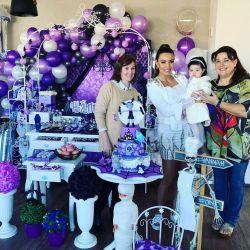 Andrea Estévez le festejó su primer cumpleaños a su hija Hannah