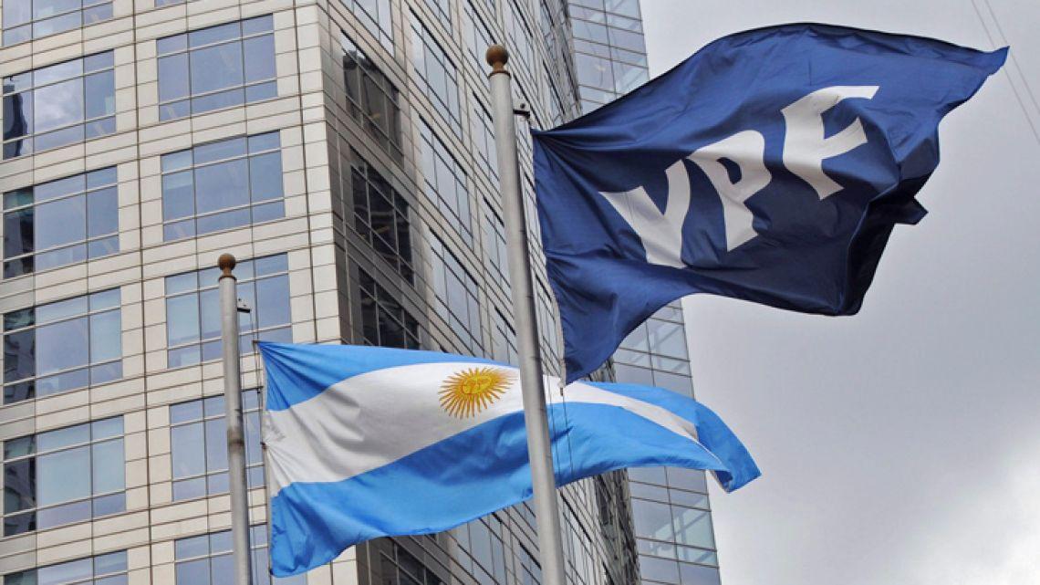 YPF flag.
