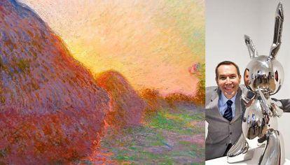 Los más deseados. A la izq. Meules de Claude Monet (1840-1926). Derecha Jeff Koons (1955) y Rabbit.