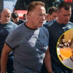 Arnold Schwarzenegger, atacado en vivo