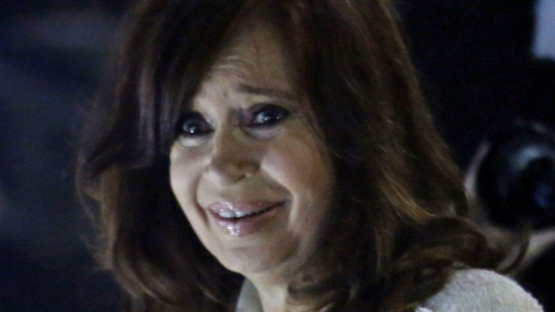 Former president Cristina Fernández de Kirchner.
