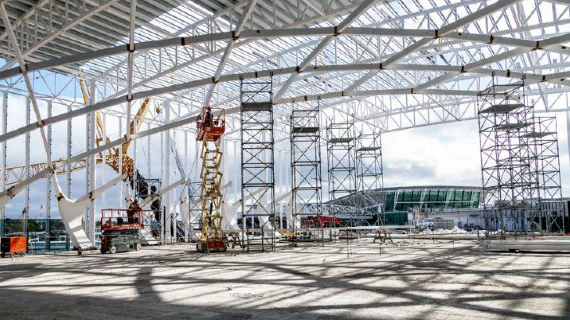 Construction at Ezeiza International Airport.