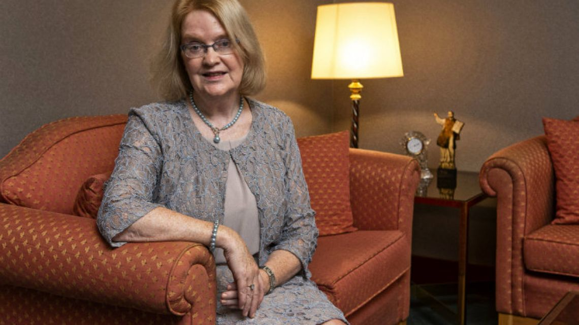 Ireland's Ambassador to Argentina, Jackie O'Halloran, pictured in her office in Buenos Aires.
