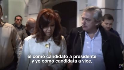 En un video, Cristina anunció que acompañará a Fernández.