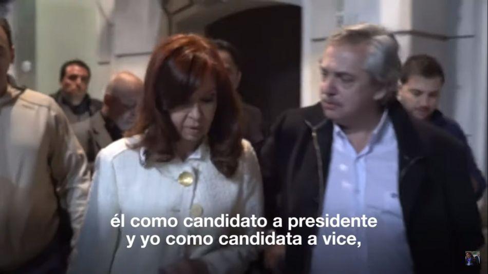 Cristina Kirchner Alberto Fernández candidatura